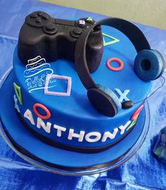 All edible PlayStation cake for Anthonys birthday . - Playstation - Ideas of Playstation - - All edible PlayStation cake for Anthonys birthday . Rice crispie controller and fondant Birthday Cakes For Men, Boys 18th Birthday Cake, Friends Birthday Cake, Funny Birthday Cakes, Bithday Cake, Homemade Birthday Cakes, Art Birthday, Birthday Ideas, Flower Birthday