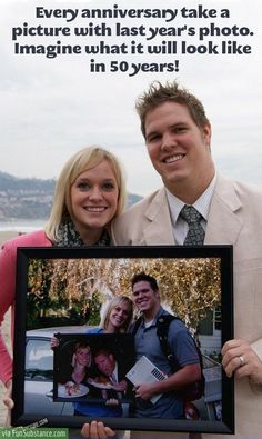 Cutest anniversary idea - should start this now!