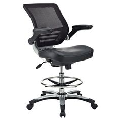 Found it at www.dcgstores.com - ♥ ♥ Edge Drafting Chair - Mesh Back, Chrome Foot Ring, Black ♥ ♥