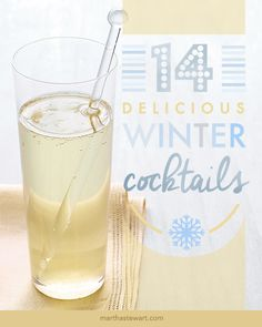 14 Delicious Winter Cocktails | Martha Stewart Living - Warm up to winter with these cold-weather cocktails.