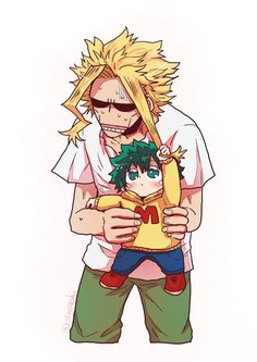 Boku no Hero Academia || All Might, Midoriya Izuku.