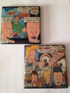 Beavis and Butthead coasters  on Etsy, $8.00
