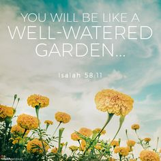 You will be like a well-watered garden, like a spring whose waters never fail. — Isaiah 58:11 The Best Kind of Blessings Isaiah ended his message by describing the best kind of blessings — what God will do in the lives of those who reflect His mercy. Then your light will break forth like the