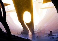 No Man's Sky Concept Art, by Hello Games. Hello Games, Alien Spaceship, No Man's Sky, Interactive Art, Sky Art, Visual Development, Illustrations And Posters, Virtual World, Landscape Design