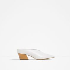 Image 1 of SLINGBACK LEATHER SHOES from Zara