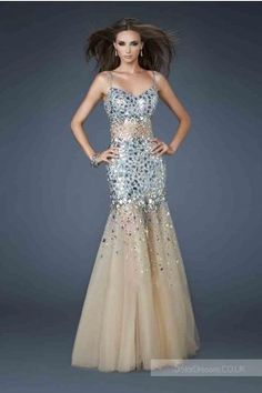 2014 Spaghetti Strap La Femme 18689 Prom Dresses, So Cheap