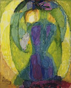 František Kupka / Oval Mirror / 1911? (dated on painting 1910) / oil on canvas / MoMa