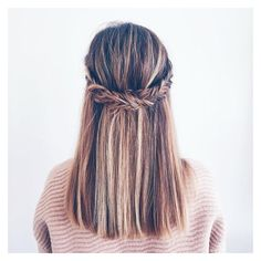 Pinterest via Polyvore featuring hair