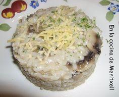 Un risotto delicioso, la receta es del libro ( Hoy cocinas tú, con tu Fussioncook )