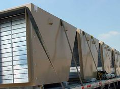 Roof Mounted Ventilation Silencer with Integral Cowl and Flow Control Dampers - dB Noise Reduction