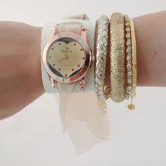 Relógio com Coração Ouro Velho.    www.relogiosdadora.com.br