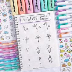 step doodle ideas for your bullet journal! - - Doodle ideen step doodle ideas for your bullet journal! - - Doodle ideen - Canetas Stabilo 25 Easy Doodle Art Drawing Ideas For Your Bullet Journal Bullet Journal Aesthetic, Bullet Journal Notebook, Bullet Journal Ideas Pages, Bullet Journal Inspiration, Lettering Tutorial, Hand Lettering, Stabilo Boss, Banners, Couple Scrapbook