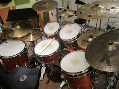 My Gretsch Renown Purewood Cherry drum set.  They sound and feel amazing!! Best I've owned to date.