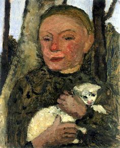 Paula Modersohn-Becker - Girl with Lamb