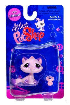 Amazon.com : Littlest Pet Shop Littlest Figure Pink & Purple Cat : Toys And Games : Toys & Games