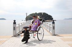 三河湾を走る人力車
