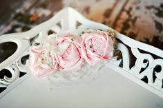 Fabric Rosette Headband - More Colors Available