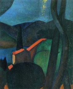 André Derain, Martigues Landscape, 1908 Oil on canvas on ArtStack #andre-derain #art