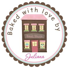 Personalized Bake Shop Sweet Shoppe Labels,stickers,seals set of 12. $5.50, via Etsy.