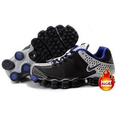 www.asneakers4u.com Mens Nike Shox TL3 Black Silver Blue