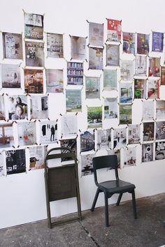 inspiratie muur met pagina's uit tijdschriften - pages of magazines