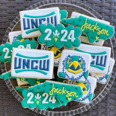 Wishing Jackson the best of luck at UNCW next year! #uncw2024  #acookieaddict Jackson, Cookies, Biscuits, Cookie Recipes, Cookie, Cake, Jackson Family, Biscuit