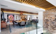 Awesome Apartment With Clifton View Interior Artistic Dining Room