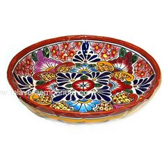 For a pop of color. Talavera Birdbath Plate