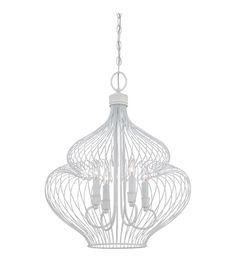 500 Quoizel Lighting Signature 4 Light Chandelier in Fresco QF1676W #lightingnewyork #lny #lighting