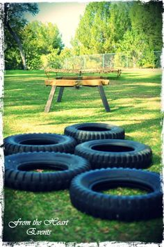 Boys Military Themed Boot Camp BIrthday Party Obsticale Course