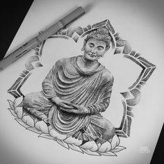 #tattoo #dotwork #buddha #buddhatattoo #mandala #lotus #sketch #art #artwork #drawing #linework #art
