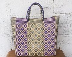 Gran tamaño tejidas a mano bolso de Oaxaca hecho por Spiralspiral