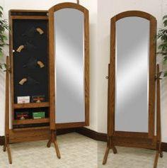 hidden gun safe mirror | Built in and hidden gun cabinet kit that ...