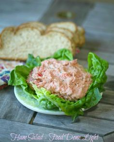 This is a great and healthy leftover ham recipe - Lightened Ham Salad - Low Calorie Low Fat Pork Recipes, Cooking Recipes, Clean Recipes, Ham Salad, Salad Sandwich, Soup And Salad, Salad Bar, Healthy Salad Recipes, Lunch Recipes