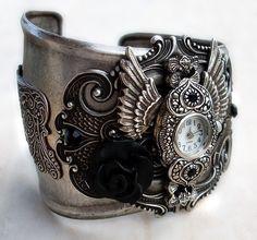 steampunk gothic watch cuff