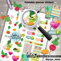 60%OFF - Vegetable Stickers, Printable Planner Stickers, Meal Stickers, Kawaii Stickers, Food Stickers, Planner Accessories, Green