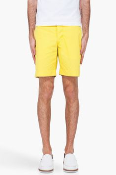 Orlebar Brown Yellow Boston Shorts    $240.00 Youre Cute, Bermuda Shorts, Boston, Yellow, Brown, Women, Fashion, Moda, Women's