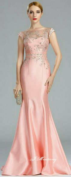 Do you think I should buy it? 8th Grade Prom Dresses, Prom Girl Dresses, Mob Dresses, Mermaid Evening Dresses, Fashion Dresses, Pink Dresses, Dress Prom, Dinner Gowns, Ball Gowns