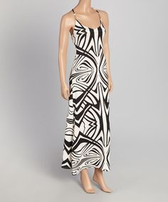 Look what I found on #zulily! Off-White & Black Geo Swirl Maxi Dress - Women #zulilyfinds