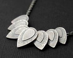 7 petals necklace - sterling silver necklace
