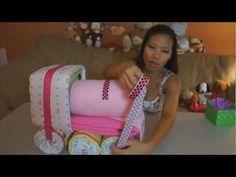 Choo Choo Train Diaper Cake - How To Make | PopScreen
