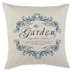 <3  by Throw Pillows by Chooty & Co.  Garden Gate