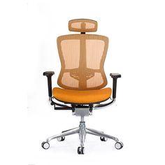 Modern orange color full mesh office chair high back ergonomic mesh office chair with headrest