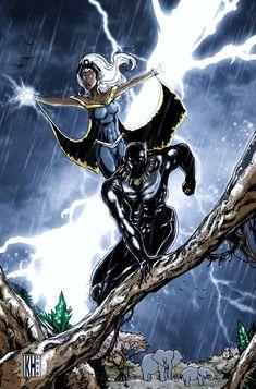 True African Goddess: Storm by on DeviantArt Marvel Comics Art, Marvel Actors, Marvel Heroes, Storm Comic, Storm Marvel, Black Panther Storm, Black Panther Marvel, Comic Books Art, Comic Art