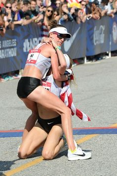 Shalane Flanagan collapsed into Amy Cragg's arms at the finish line of the 2016 Olympic Marathon Trials.