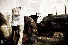 Tractor Photo - I like the overlay of pictures in this one, also the color