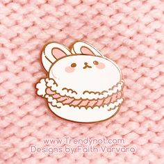 Bonnie Bun Macaron Pin — Trendy Not Kawaii Jewelry, Cute Jewelry, Animes Yandere, Cute School Supplies, Cool Pins, Pin And Patches, Kawaii Cute, Cute Icons, Pin Badges
