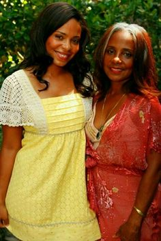 Saani Lathan And Her Mother