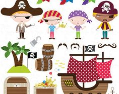 pirate clipart – Etsy