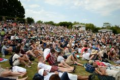 Fans on Henman Hill or Murray Mound at #WIMBLEDON